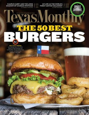 Cover of Texas Monthly August 2016