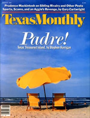 Cover of Texas Monthly August 1985