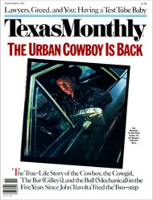 Cover of Texas Monthly November 1985