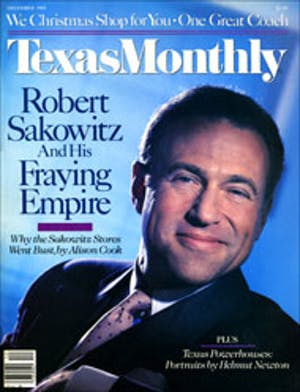 Cover of Texas Monthly December 1985