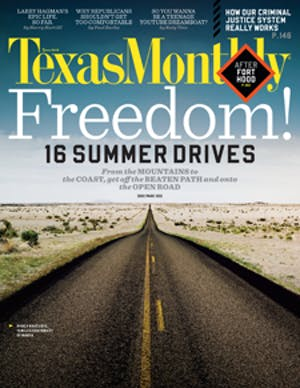 Cover of Texas Monthly June 2012