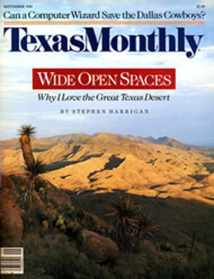Cover of Texas Monthly September 1986