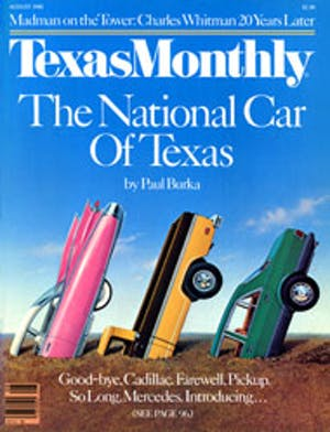 Cover of Texas Monthly August 1986