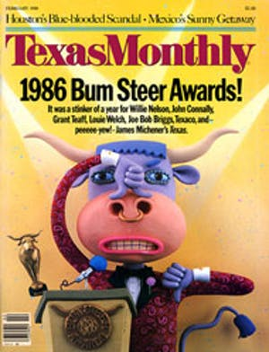 Cover of Texas Monthly February 1986