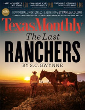 Cover of Texas Monthly November 2012