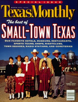 Cover of Texas Monthly March 1999
