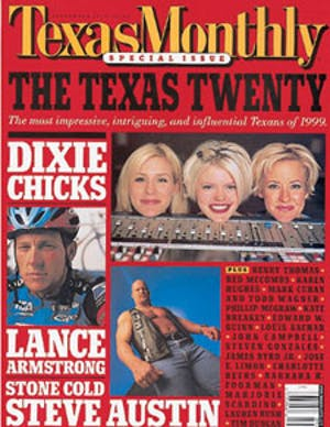 Cover of Texas Monthly September 1999