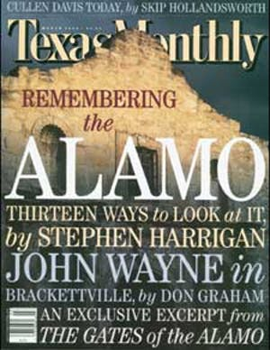 Cover of Texas Monthly March 2000