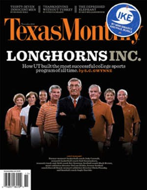 Cover of Texas Monthly November 2008