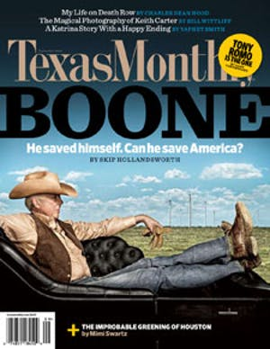 Cover of Texas Monthly September 2008
