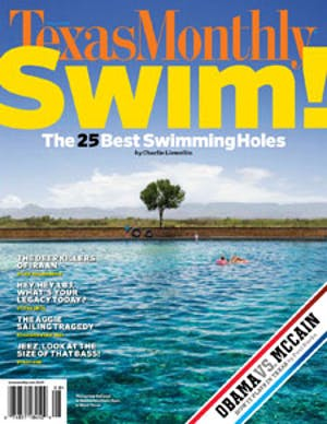 Cover of Texas Monthly August 2008