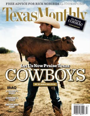 Cover of Texas Monthly July 2008