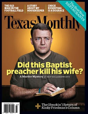 Cover of Texas Monthly March 2008