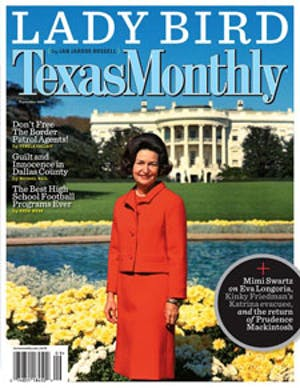 Cover of Texas Monthly September 2007