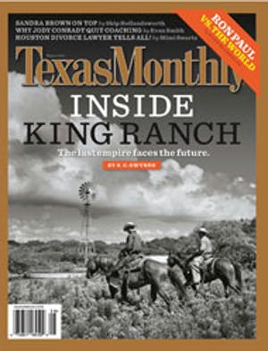 Cover of Texas Monthly August 2007