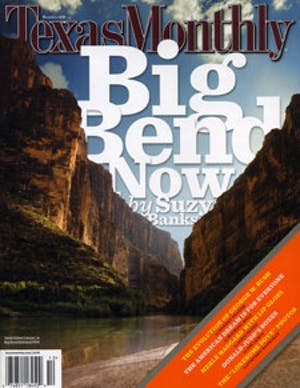 Cover of Texas Monthly October 2007