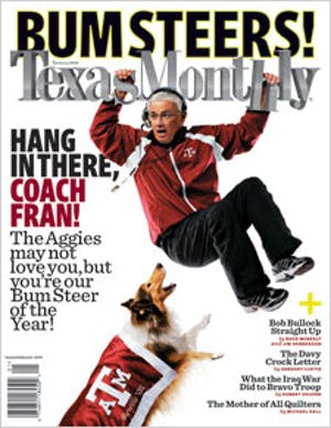 Cover of Texas Monthly January 2008