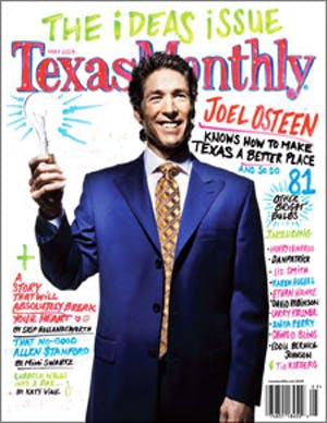 Cover of Texas Monthly May 2009