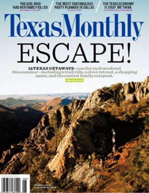 Cover of Texas Monthly June 2009