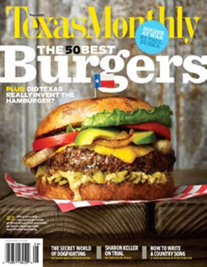 Cover of Texas Monthly August 2009