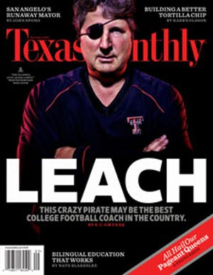 Cover of Texas Monthly September 2009