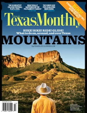 Cover of Texas Monthly October 2009