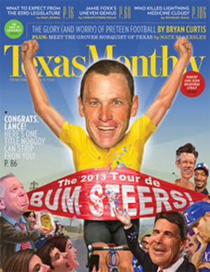 Cover of Texas Monthly January 2013