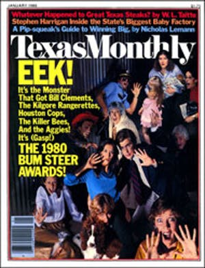 Cover of Texas Monthly January 1980