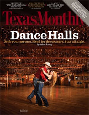 Cover of Texas Monthly December 2009