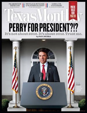 Cover of Texas Monthly February 2010
