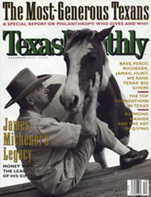 Cover of Texas Monthly December 1997