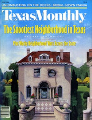 Cover of Texas Monthly June 1986