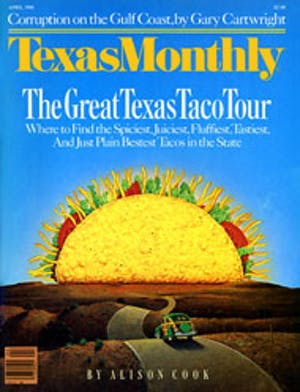 Cover of Texas Monthly April 1986