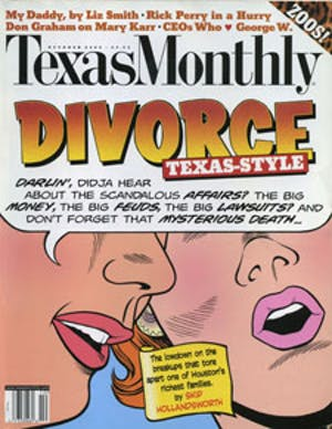 Cover of Texas Monthly October 2000