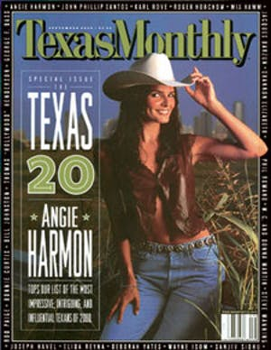 Cover of Texas Monthly September 2000