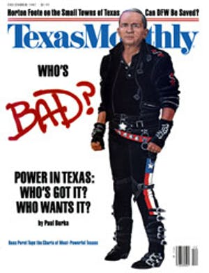 Cover of Texas Monthly December 1987