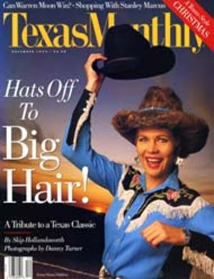 Cover of Texas Monthly December 1992