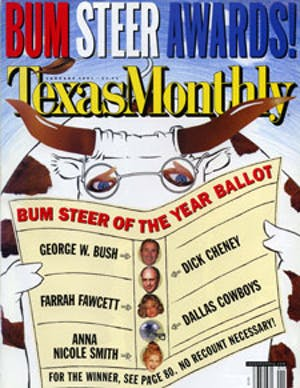 Cover of Texas Monthly January 2001