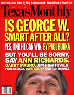 Cover of Texas Monthly July 2000