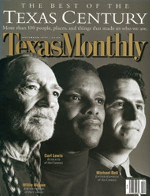Cover of Texas Monthly December 1999