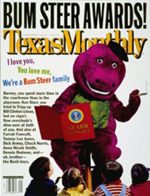 Cover of Texas Monthly January 1999
