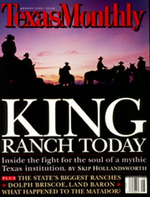 Cover of Texas Monthly August 1998
