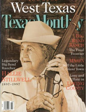 Cover of Texas Monthly October 1997