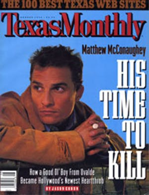 Cover of Texas Monthly August 1996