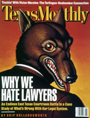 Cover of Texas Monthly June 1996