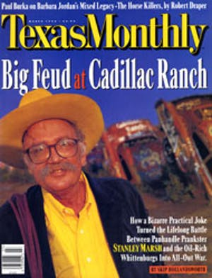Cover of Texas Monthly March 1996