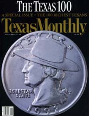 Cover of Texas Monthly September 1992