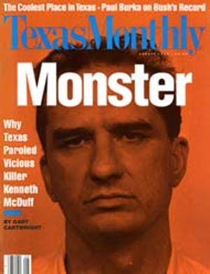 Cover of Texas Monthly August 1992