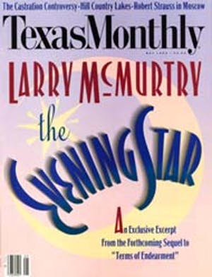 Cover of Texas Monthly May 1992