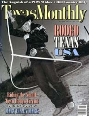 Cover of Texas Monthly March 1992